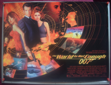 World is Not Enough (1999) - James Bond | UK Quad Poster